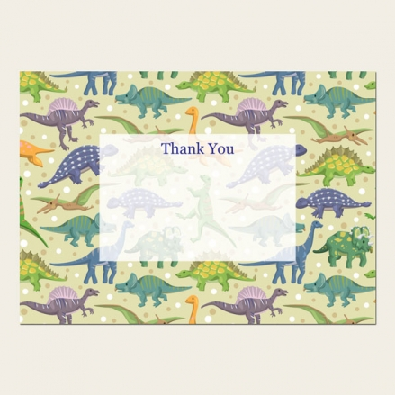 Ready to Write Kids Thank You Cards - Dinosaur Party