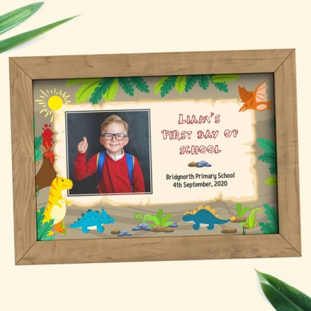 Personalised My First Day Print - Dinosaur World