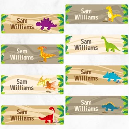 Dinosaur World - Personalised Kids Stickers - Pack of 32