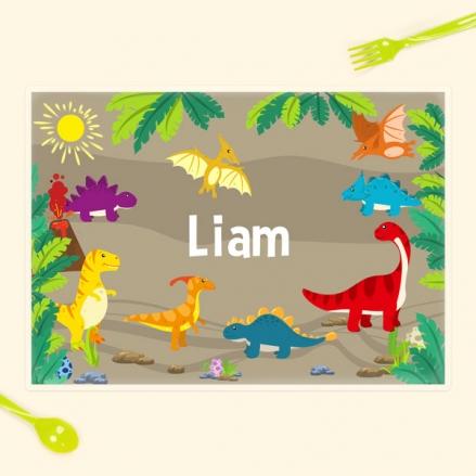 Personalised Kids Placemat - Dinosaur World