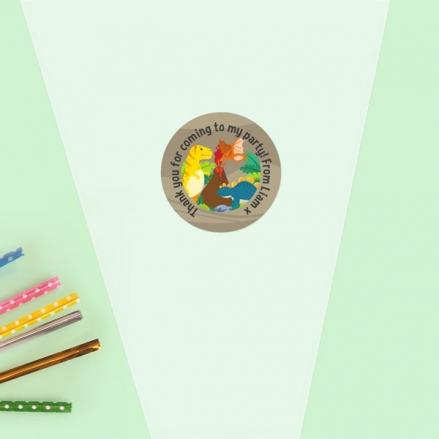 Dinosaur World - Sweet Cone Bag & Sticker - Pack of 35