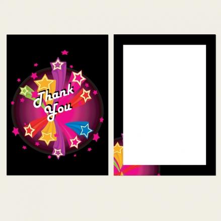 Ready to Write Kids Thank You Cards - Disco Stars