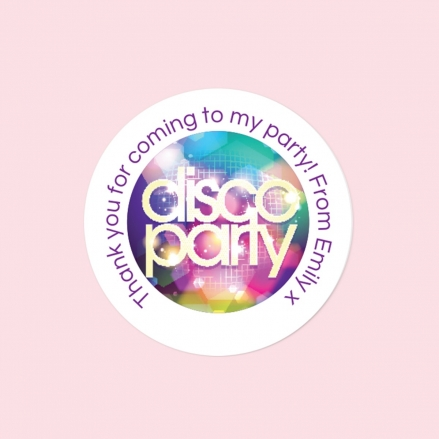 Disco Party - Sweet Bag Stickers - Pack of 35