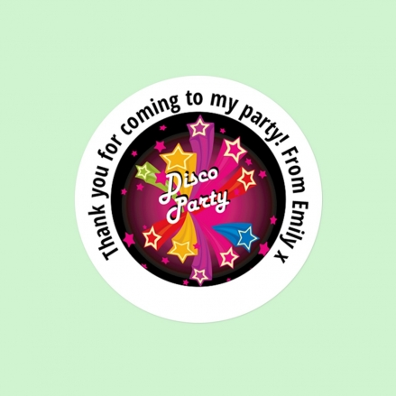 Disco Stars - Sweet Bag Stickers - Pack of 35