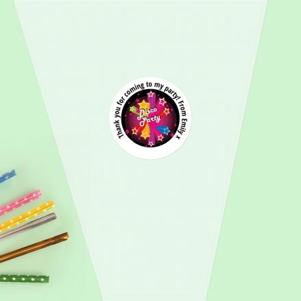 Disco Stars - Sweet Cone Bag & Sticker - Pack of 35