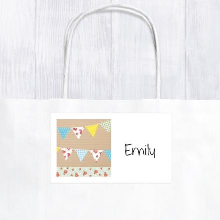 Ditsy Bunting - Party Bag & Sticker - Pack of 10