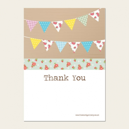 Ready to Write Kids Thank You Cards - Ditsy Bunting