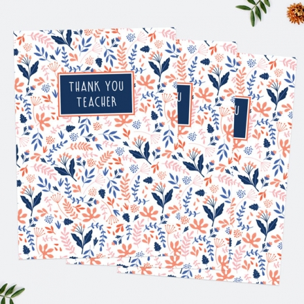 Ditsy Floral Teacher Thank You Cards - Pack of 6