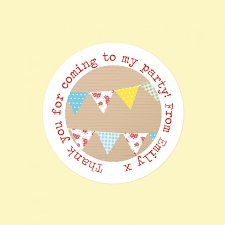 Ditsy Bunting - Sweet Cone Stickers - Pack of 35