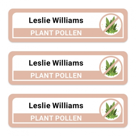 Care-Home-Medium-Personalised-Stick-On-Waterproof-(Equipment)-Allergy-Name-Labels-Plant-Pollen-Pack-of-42