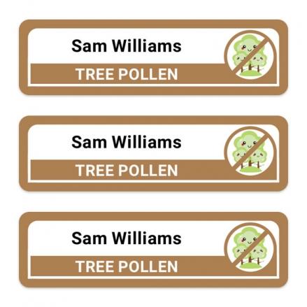Medium-Personalised-Stick-On-Waterproof-(Equipment)-Allergy-Name-Labels-Tree-Pollen-Pack-of-42