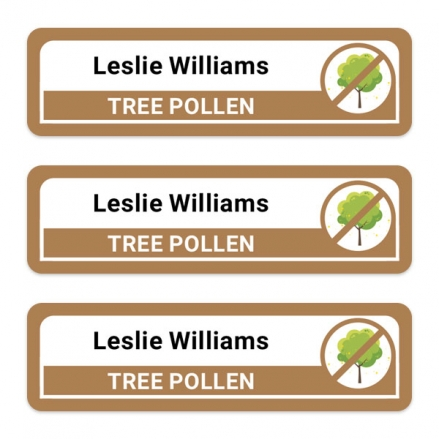 Care-Home-Medium-Personalised-Stick-On-Waterproof-(Equipment)-Allergy-Name-Labels-Tree-Pollen-Pack-of-42
