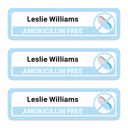 Care-Home-Medium-Personalised-Stick-On-Waterproof-(Equipment)-Allergy-Name-Labels-Amoxicillin-Pack-of-42