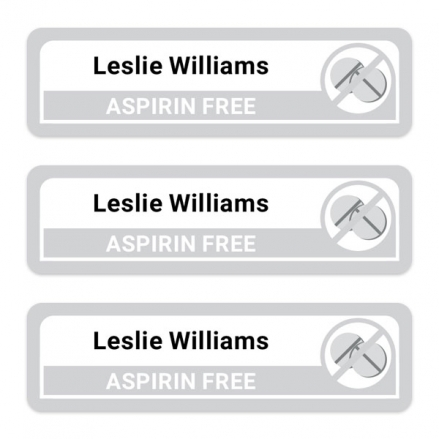 Care-Home-Medium-Personalised-Stick-On-Waterproof-(Equipment)-Allergy-Name-Labels-Aspirin-Pack-of-42
