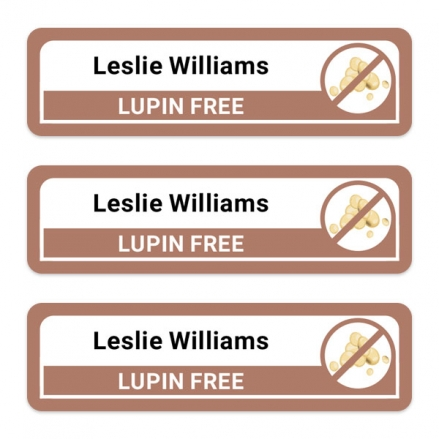 Care-Home-Medium-Personalised-Stick-On-Waterproof-(Equipment)-Allergy-Name-Labels-Lupin-Pack-of-42