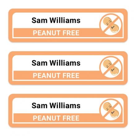 Medium-Personalised-Stick-On-Waterproof-(Equipment)-Allergy-Name-Labels-Peanut-Pack-of-42