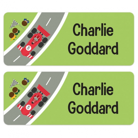 Personalised Stick On Waterproof (Equipment) Name Labels - Car - Pack of 30