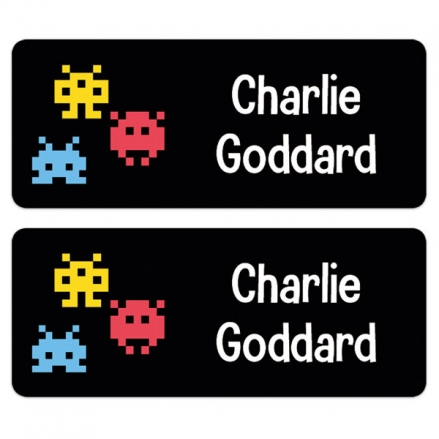 Personalised Stick On Waterproof (Equipment) Name Labels - Computer Game - Pack of 30