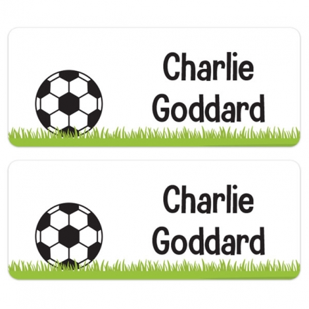 Personalised Stick On Waterproof (Equipment) Name Labels - Football - Pack of 30