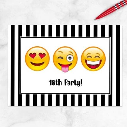 Teen Birthday Invitations - Emoji Party