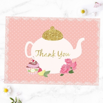Ready to Write Thank You Cards - Teapot and Cupcake