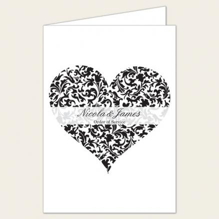 Heart Pattern - Wedding Order of Service