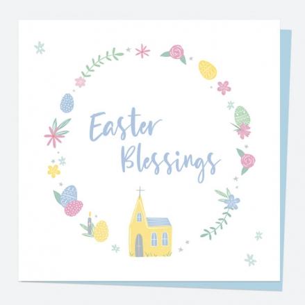 Easter Card - Church Floral Frame