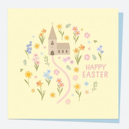 Easter Card - Church Path