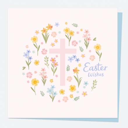 Easter Card - Floral Cross