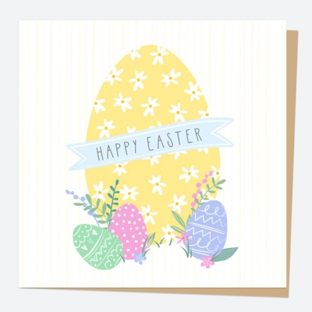 Easter Card - Patterned Eggs