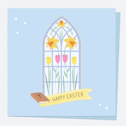 Easter Card - Stained Glass Window