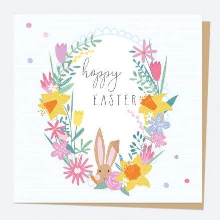 Easter Card - Bunny Floral Frame