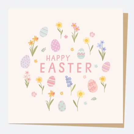Easter Card - Pastel Eggs