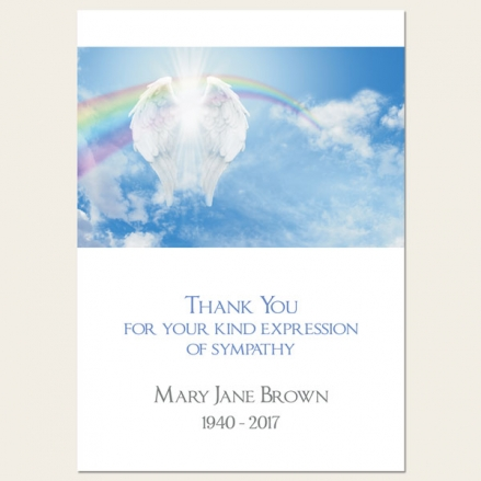 Funeral Thank You Cards - Heavenly Rainbow