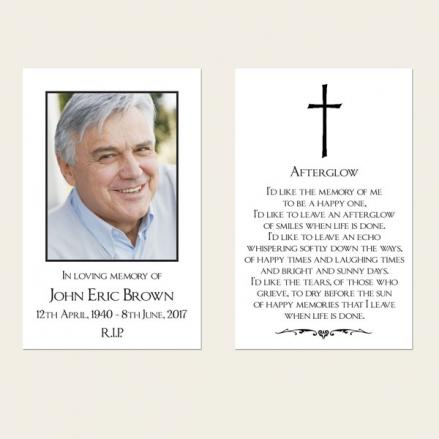Funeral Memorial Cards - Elegant Border