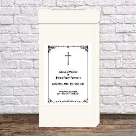 Funeral Post Box - Elegant Border