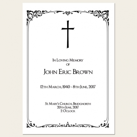 Funeral Order of Service - Elegant Border