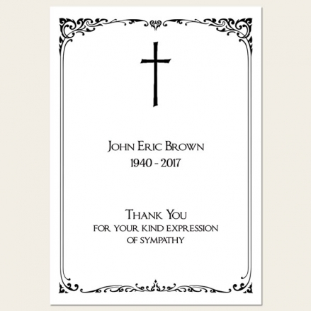 Funeral Thank You Cards - Elegant Border
