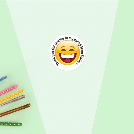 Emoji Party - Sweet Cone Bag & Sticker - Pack of 35