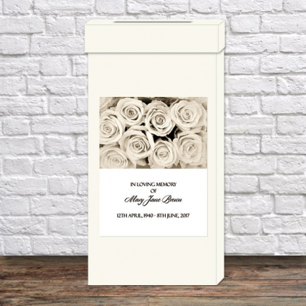 Funeral Post Box - English Roses