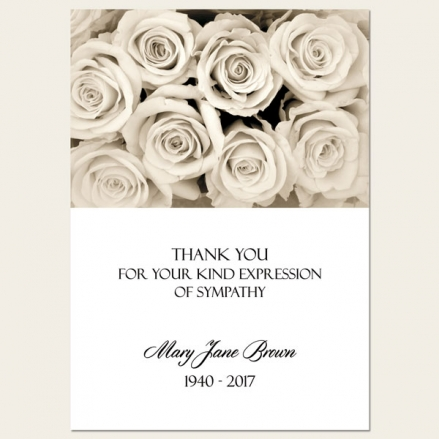 Funeral Thank You Cards - English Roses