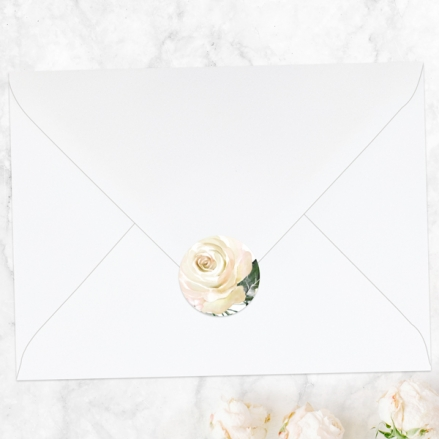 White-Country-Flowers-Wedding-Envelope-Seals
