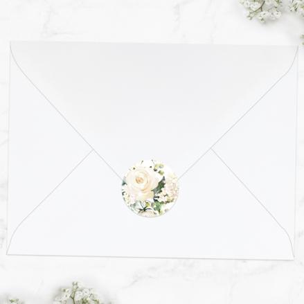 white-flower-garland-wedding-envelope-seals