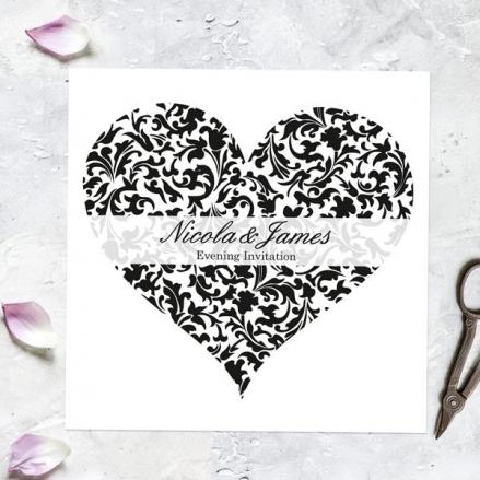 Heart Pattern - Evening Invitations