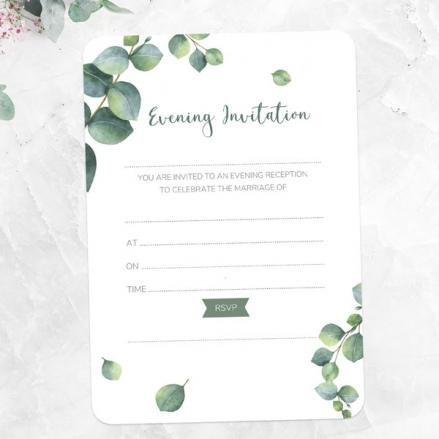 Eucalyptus - Ready to Write Evening Invitations