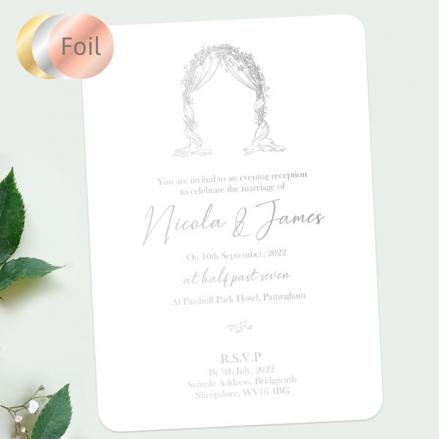 Floral-Wedding-Arch-Foil-Evening-Invitations