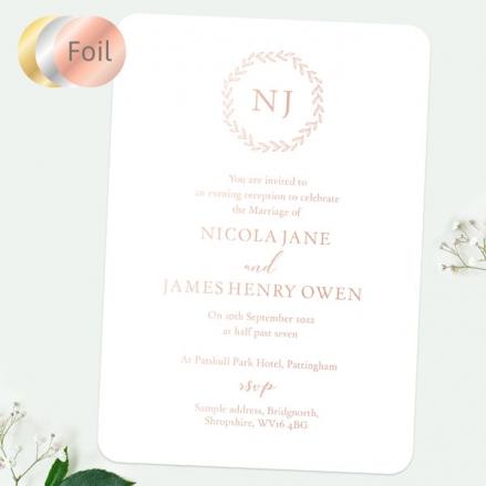 Monogram-Leaves-Foil-Evening-Invitations