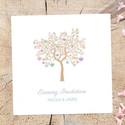 Love Tree - Evening Invitations