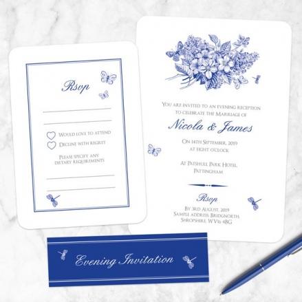 Royal Botanical - Boutique Evening Invitation & RSVP