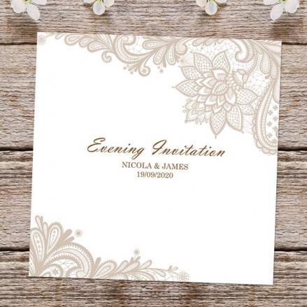Victorian Lace - Evening Invitations